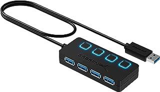 Sabrent 4端口USB 3.0集线器,带独立电源开关和 LED (HB-UM43)