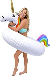GoFloats 独角兽泳池浮舟派对管 - 充气筏,成人和儿童