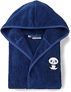 Grace Grand Spa 儿童浴袍熊猫 *蓝色 134/140