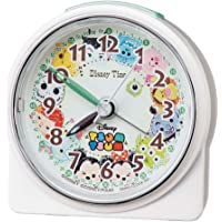 Seiko 精工 台式时钟 白珍珠 主体尺寸:8.9×8.6×4.7厘米 闹钟 迪士尼Tsum Tsum 模拟FD481…