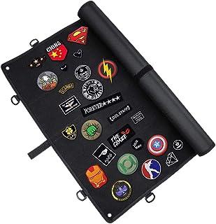 IronSeals 战术板补丁收纳架,士气补丁面板显示带环表面,钢环,耐用 D 型挂钩和国旗补丁