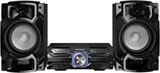 Panasonic 松下 SC-AKX320 高性能音响系统(450W,16厘米低音扬声器,6厘米高音单元,蓝牙,USB双音,CD,AUX,DJ Jukebox)黑色