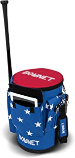 BOWNET 棒球/软球 教练包 [ BUCKET BAG ]球桶用包 附带蝙蝠袋 USA图案 BN-BUCKET BAG USA 【正品】