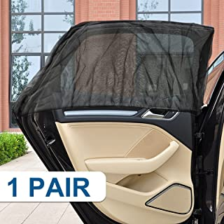 Voilamart 汽车侧窗遮阳罩可达 31 英寸(约 78.7 厘米),汽车车窗屏幕,汽车透气网眼窗罩,适用于汽车露营旅行,适合大多数汽车、卡车、越野车、汽车车窗遮阳罩