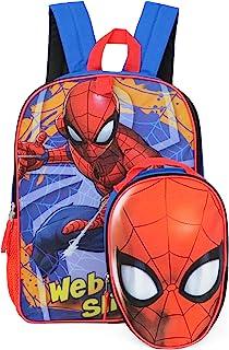 Marvel 全尺寸背包,带可拆卸午餐盒 Web Slinger 均码