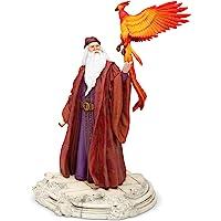 Enesco 哈利波特 Dumbledore 哈利波特魔法世界与福克斯雕像,10 英寸,多色