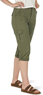 Lee 女士弹性中腰工装七分裤