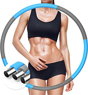 MeiYii 成人减重运动圈,锻炼用加重圈,不锈钢管可拆卸组装健身圈,可调节重量设计,适合家庭锻炼,*燃烧