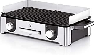 WMF 福腾宝 Lono Master-Grill 电烧烤炉 不锈钢亚光,50 x 28cm,带有防风罩和滴水盘的电动餐桌烤架,已通过户外烧烤认证,2个可单独调节的烧烤区,2400W