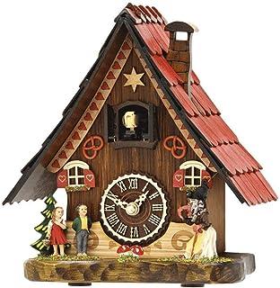 HERMLE 黑色森林桌面 CUKCOO 时钟,童话故事 棕色 9.2
