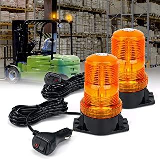 Xprite 琥珀色 LED 叉车灯 *警示闪光灯 带点烟器 适用于割草机、ATV、卡车、拖拉机、高尔夫球车、UTV、汽车、总线-2 件