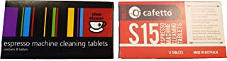 Cino Cleano 和 S15 浓缩咖啡机清洁片 - 非常适合清洁 Breville 、De Longhi 和 Jura 浓缩咖啡机。 Ultimate Breville 咖啡师清洁平板电脑套件。 (共16片)
