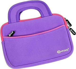 Contixo 10 英寸平板电脑内胆包兼容 Contixo K101 儿童平板电脑,Amazon Fire HD 10 儿童版,Kindle Fire HD 10.1 英寸,带配件口袋(紫色)