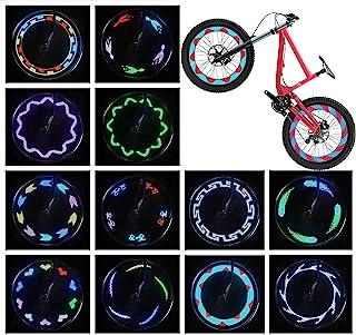 AIKELIDA LED 自行车轮灯 – 防水自行车轮灯,超亮自行车辐条灯自行车轮胎灯,*成人和儿童自行车配件,酷炫 14 LED 30 种模式自行车灯