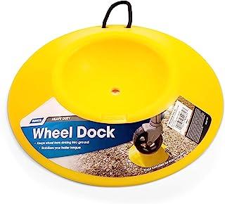 Camco 重型车轮基座带绳把手 - 帮助防止拖车车轮沉入灰尘或泥土,易储存和运输 (44632)