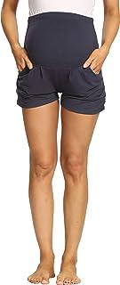 Kegiani 女式孕妇柔软哈伦短裤带口袋 高腰孕妇休闲瑜伽休闲短裤夏季长裤