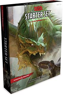 Dungeons & Dragons Starter Set (Six Dice, Five Ready-to-Play D&D Characters With Character Sheets, a Rulebook, and One Adv...