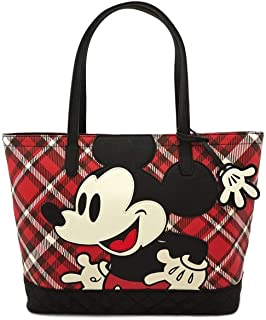 x Mickey Mouse 格子图案手提包钱包