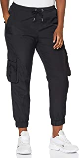 Urban Classics 女式高腰褶皱尼龙工装裤休闲裤