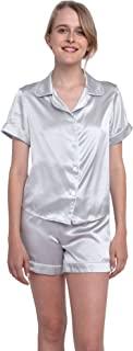 MYK 纯桑蚕丝两件套睡衣套装女士睡衣和短裤,22 Momme 奢华睡衣超值套装