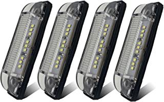 TCTAuto 4 英寸(约 10.2 厘米)LED 实用灯条白色适用于拖车UTV货车露营者玛丽安船,带透明密封镜头,防水9LED,12V,4件装