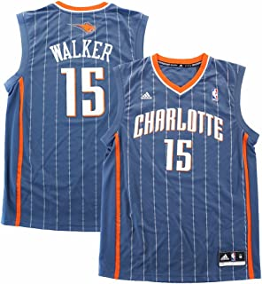 adidas 阿迪达斯 Kemba Walker Charlotte Bobcats NBA 男式灰色官方复制球衣