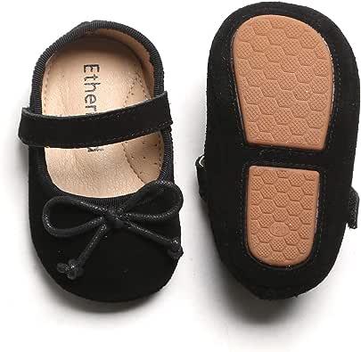 学步儿童/婴儿女婴一脚蹬软底学步鞋平底正装鞋