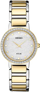 SEIKO 精工 女式日本石英不锈钢表带,银色,0 休闲手表(型号:SUP434)