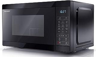 Sharp 夏普 YC-MG02U-B 数码 800W 微波炉,带 1000W 烤架,20 升容量和 11 个功率级别 - 黑色