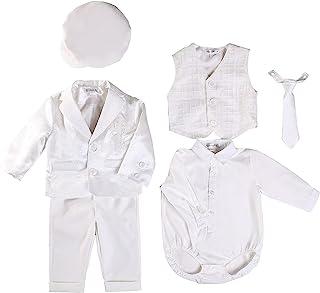 Booulfi 婴儿男孩洗礼服装燕尾服正装婚礼套装