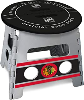 FANMATS NHL 芝加哥黑鹰队折叠脚凳,黑色,均码