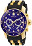 "Invicta 男式""Pro Diver""瑞士石英不锈钢和聚氨酯运动手表,颜色:黑色(型号:6983)"