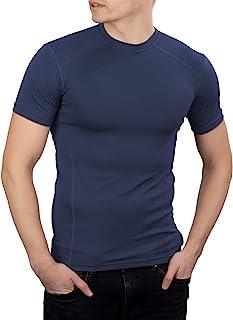 281Z 男式战术吸湿排汗 T 恤 - 徒步训练户外 - 运动锻炼 - Polartec Delta (*蓝)