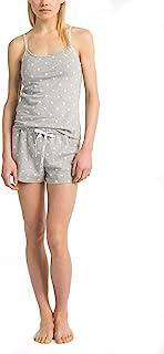 Calvin Klein 女式 Carousel 标志吊带背心和短裤睡衣 2 件套