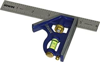 IRWIN 工具组合尺,金属体,15.24 厘米 (1794468) 蓝色 6-Inch