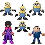 Fisher-Price Imaginext 小黄人玩偶套装,6 件套电影角色人物适合 3-8 岁儿童