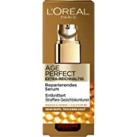 L'Oréal Paris 巴黎欧莱雅 金致臻颜系列 紧致锁龄多效抗皱精华 适合非常成熟和干燥的肌肤,含麦卢卡蜂蜜及B5…