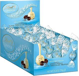 Lindt 瑞士莲 LINDOR Stracciatella 白松露巧克力,犹太洁食,60盒装,25.4盎司,720克