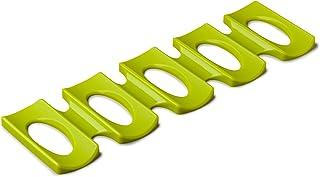 Zeal 硅胶冰箱和纸板架子套装,绿黄色,均码