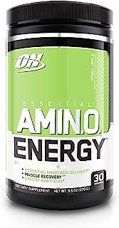 Optimum Nutrition 氨基能量,青苹果味 含绿茶和生咖啡提取物, 30份量- 9.5 ounces(278ml)