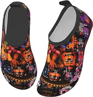 GOYEUAFFA 儿童游泳鞋 速干水性皮肤赤脚运动鞋 海滩户外运动水袜 男孩女孩