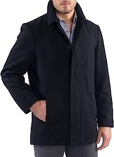 Alpine Swiss Vance 男士羊毛混纺纽扣外套