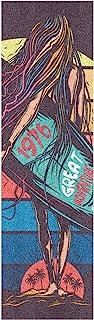 BECCI 女孩冲浪滑板防滑胶带,砂纸,无气泡,易于粘贴长板胶带,防滑防撕裂,滑板胶带,9.1 x 33.1 英寸(约 23.1 x 84.1 厘米)
