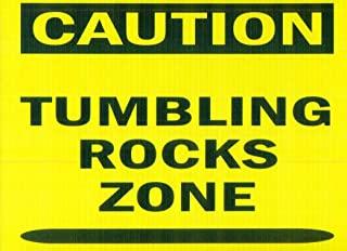 标牌 - 注意:翻滚岩石区-新颖标牌适用于摇滚玻璃爱好者