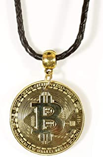 """""""Bitcoin Invor"""",Bitcoin 一块黑色皮绳上,24 英寸"""