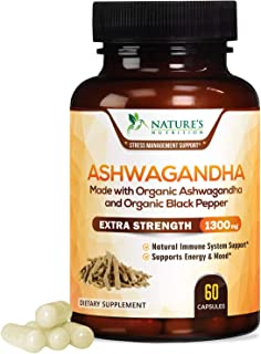 南非醉茄根粉,效能1,300毫克,配合黑胡椒粉服用,吸收更好,纯萃取物,用于舒缓压力、抗肾上腺素,有助于情绪及甲状腺的补充剂 60 粒 60.00