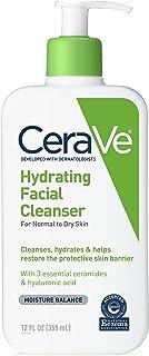 CeraVe 每日保湿洁面乳 | 12盎司,355毫升,适合干性皮肤 | 无香料