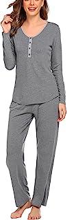 MAXMODA 女式孕妇护理睡衣裤套装柔软孕妇哺乳睡衣套装睡衣