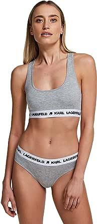 Karl Lagerfeld 卡尔·拉格菲尔德女士徽标低腰内裤