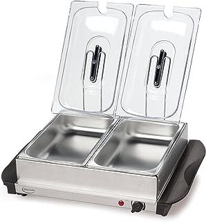 Betty Crocker 不锈钢自助餐和保温托盘,银色 - BC-2587CY